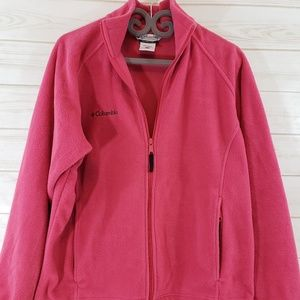 Columbia fleece zip up jacket Pink